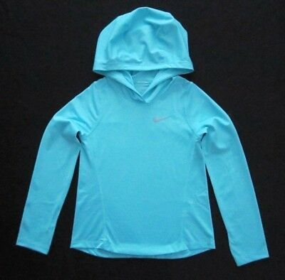 Nike Running Girls Polarized Blue Long Sleeve Dri-Fit Sweatshirt Hoodie MSRP$40