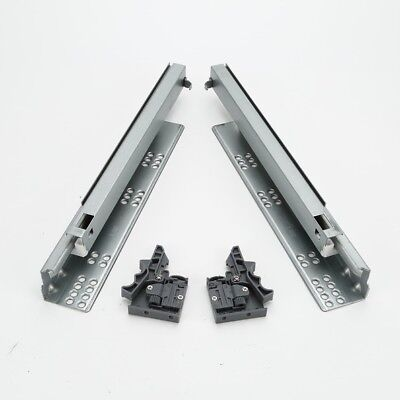 Pair of Soft Close Undermounting Drawer Concealed Full Extension Runners Slide