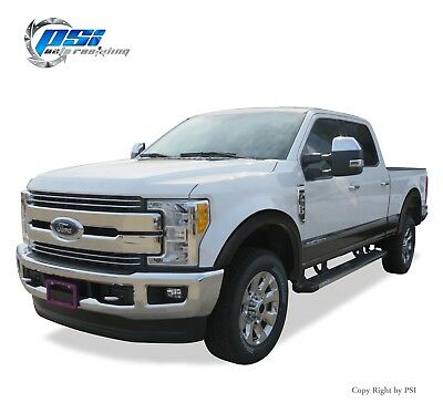 Smooth Finish Pocket Rivet Style Heavy Duty ABS Blister Plastic Fender Flare Compatible with 2011-2016 Ford F-250 F-350 Super Duty