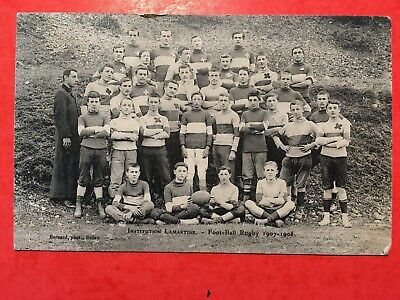 BELEY(Ain ): Institution Lamartine Foot-Ball Rugby 1907-1908