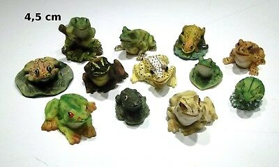 lot de 12 figurines grenouille, bibelot, collection,frog, kikker  G3-03