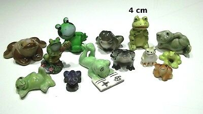 lot de 13 figurines grenouille, bibelot, collection,frog, kikker  G3-05