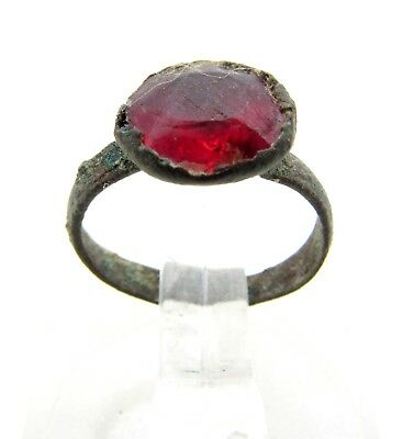 Post Medieval Ring With Stone  - D402