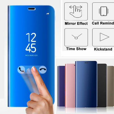 For XiaoMi RedMi 5 Plus Note 4 4X, Touch Mirror PU Leather Flip Stand Case Cover