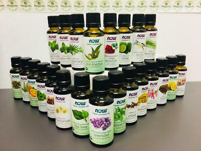 CHOOSE ONE: NOW Essential Oils 1 OR 4 Oz - Organic OR Non-Organic Options