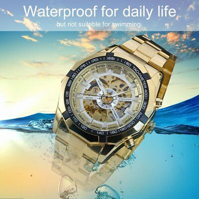 Forsining Waterproof Automatic Mechanical Watch with Skeleton Dial for Men VE