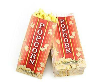 100 Popcorn Serving Bags - Pinch Bottom Paper Bag Style
