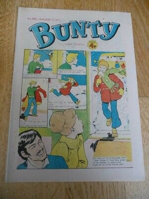 Collectible 'Bunty' Vintage Paper Comic For Girls - No.889 - January 25th , 1975