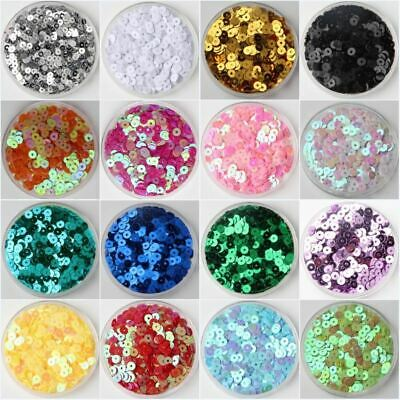 3mm 4mm 5mm 6mm Flat Round PVC Loose Sequins Paillette Sewing Craft For Wedding