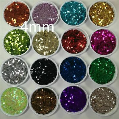 5000Pcs(25g) 4mm Sequin Flat Round PVC Loose Sequins for Crafts Paillette Sewing