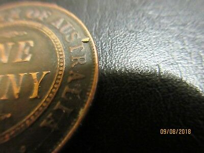 1930 AUSTRALIAN ONE PENNY TOKEN 1d gap filler Uncertified KING GEORGE V coin