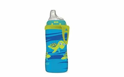 Blue Turtle Silicone Spout Active Cup Dishes Baby Sippy Cups Mugs 10 Ounce New