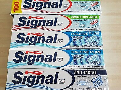 Lot de 5 dentifrices signal neuf