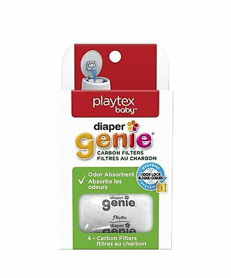 Diaper Genie Playtex Carbon Filter Refill Tray for Diaper Pails, 4 Carbon Filter