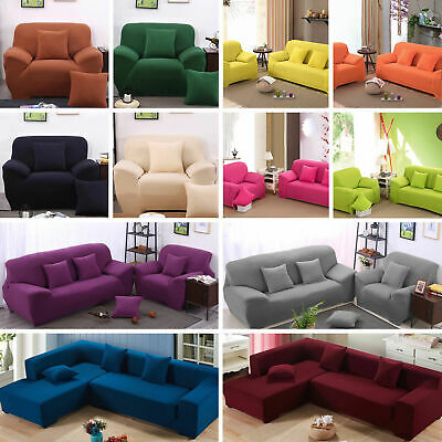 Stretch Chair Sofa Cover 1 2 3 4Seater Shaped Protect Couch Full Cover Slipcover