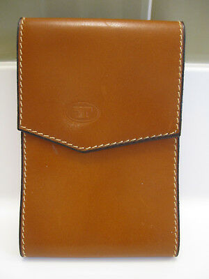LE TANNEUR Brown Leather Men's Coat Breast Pocket Wallet Made in France Vtg
