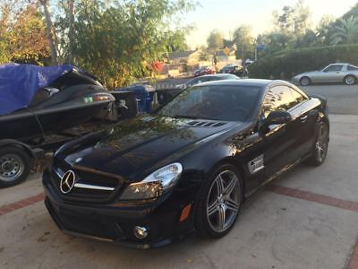 2011 Mercedes-Benz SL-Class SL63 AMG 2011 Mercedes SL63 AMG Convertible with ONLY 9K Miles Black on Black Wesitec