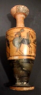 Miniature Greek Attic Lekythos - Warriors Horses - Circa 500 BC