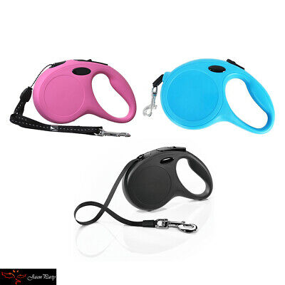 Durable Retractable Dog Leash. 16' for dogs up to 33 lbs Long Traction Rope New