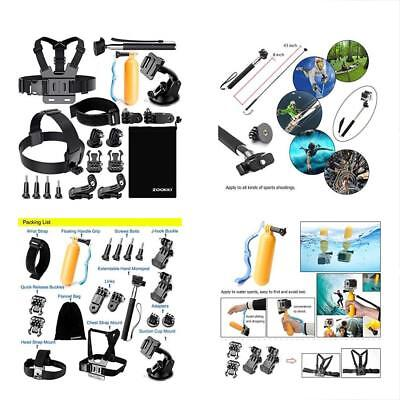 Zookki Professional Video Accessories Kit For GoPro Hero Session Silver Black Yi