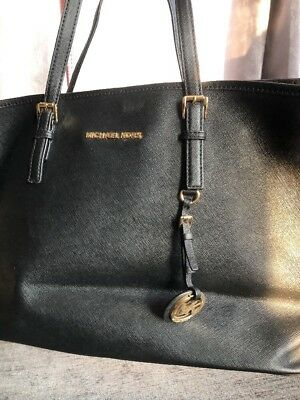 a4df136b500f MICHAEL KORS JET Set Large Black E1303 Travel Tote Bag handbag - EUR ...