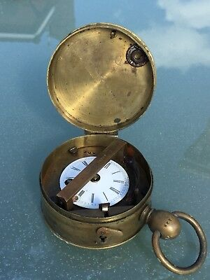 Rare 19c Portable Night Watchman's Clock..J.Burk..