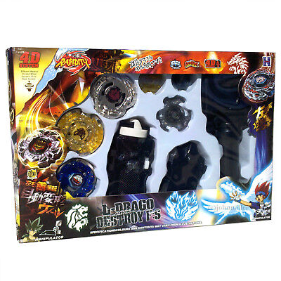 Lot Set of 3x RANDOMIZED Beyblades w/ Launchers & Spare Parts - USA SELLER!