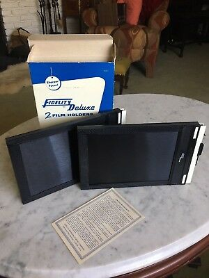 5 x 7 Fidelity Deluxe Film Holders Two (New) in Box, NIB