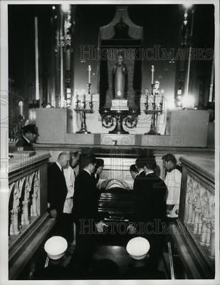 1967 Press Photo NEW YORK CASKET OF FRANCIS CARDINAL SPELLMAN NYC - neny22802