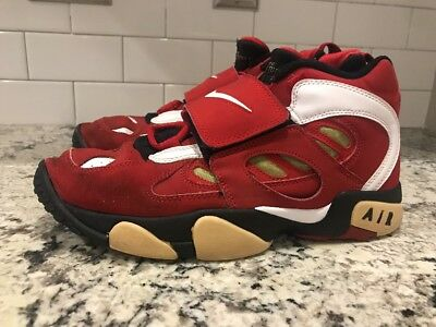 ec9e617ab6 Nike Air Diamond Turf 2 Red/White-Metallic Gold Deion Sanders 487658-610