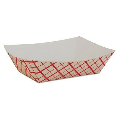SCT Paper Food Baskets, Red/White Checkerboard, 1/2 lb Capacity - SCH 0409