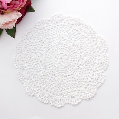 Crochet doily in white 31 - 32 cm for millinery , hair and crafts