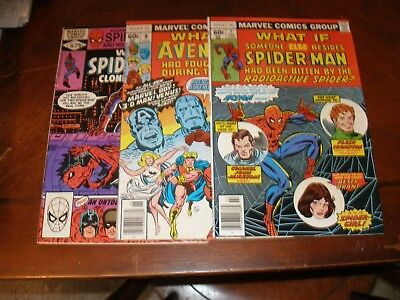 What If 7,9,30 1978/81 Bronze age Marvel comic lot
