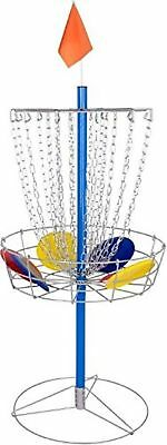 Portable Metal Disc Frisbee Golf Goal Set Comes with 9 Discs - By Trademark