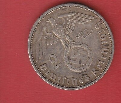 Germany 2 Mark 1939 A Silver
