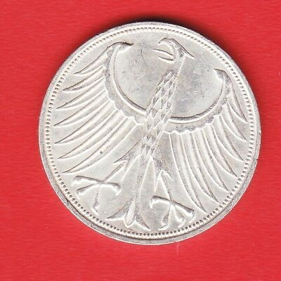 Germany 5 Mark 1971 F Silver