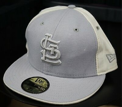 reputable site 04d77 b54c1 Rare VTG NEW ERA St Louis Cardinals MLB 59Fifty Fitted Hat Cap 90s Gray SZ 7