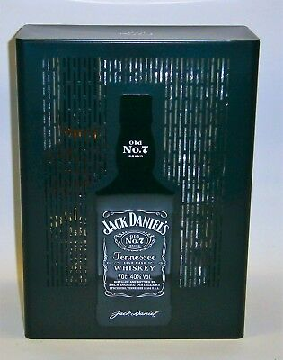 Jack Daniels 150th Anniversary 700ml bottle in Tin with Embossed Glasses New