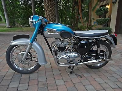 1961 Triumph Tiger  1961 TRIUMPH TIGER T110 MOTORCYCLE 650CC GROUND UP RESTORED BLUE/SILVER 110 VTG