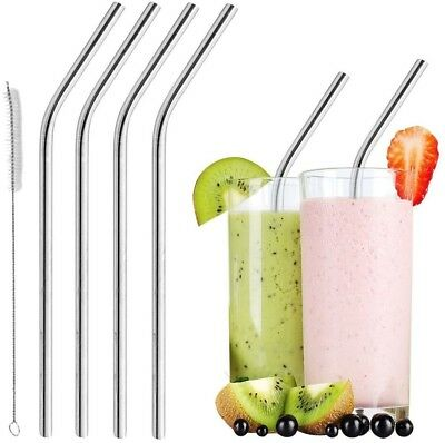 Reusable Smoothie Straws Stainless Steel - WIDE For Thick Drinks And Shakes |
