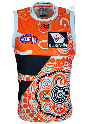 GWS Giants 2018 AFL Indigenous Guernsey Adults and Kids Sizes BNWT