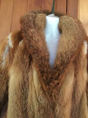 Red Fox Real Fur Coat Excellent Condition As New Size12