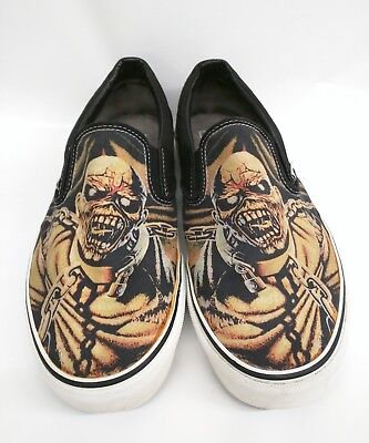 0b94b293a0d585 VANS IRON MAIDEN Piece Of Mind Exclusive Slip On Shoes Size 12 ...