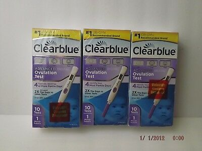 Clearblue Advanced Digital Ovulation Test 30 Test 3 Month Supply Expired