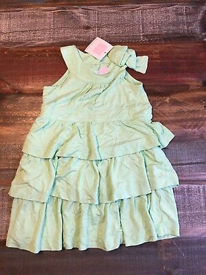 New Janie and Jack Green Soft Ruffles Layered Sundress 12-18 months girl  NWT