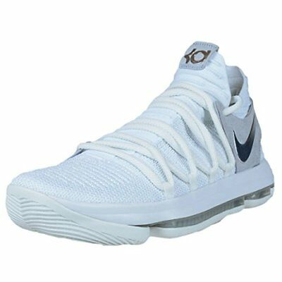 80d78f83f90d Nike Zoom Kd 10 Basketball Shoes 897815-100 White Pure Platinum Mens 12  150