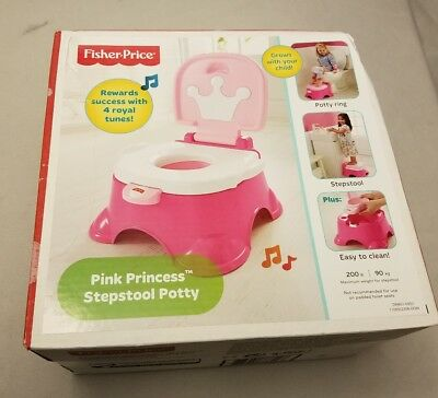 Awesome New Fisher Price Princess Potty Chair Step Stool Sings Crown Pabps2019 Chair Design Images Pabps2019Com