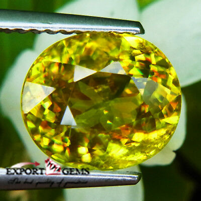 3.56Ct  Natural Yellow Oval Sphene