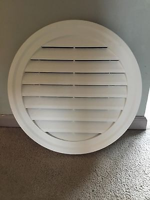 Cellwood 22 in. Pvc Round Gable Vent - White - Attic Ventilation for all siding