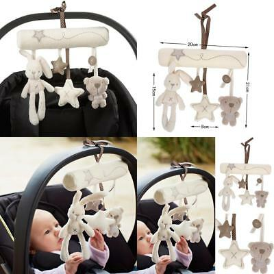 Newborn Infants Baby Pram Handbell Bed Stroller Softs Hanging Toy Animal Rattles